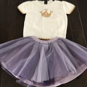 Gymboree sweater and skirt outfit
